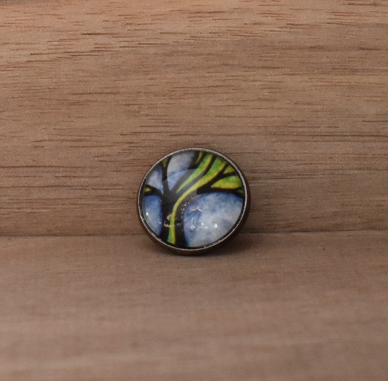 Green Tree Lapel Pin