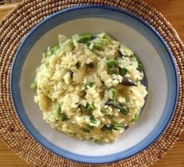 asparagus goat cheese risotto.JPG