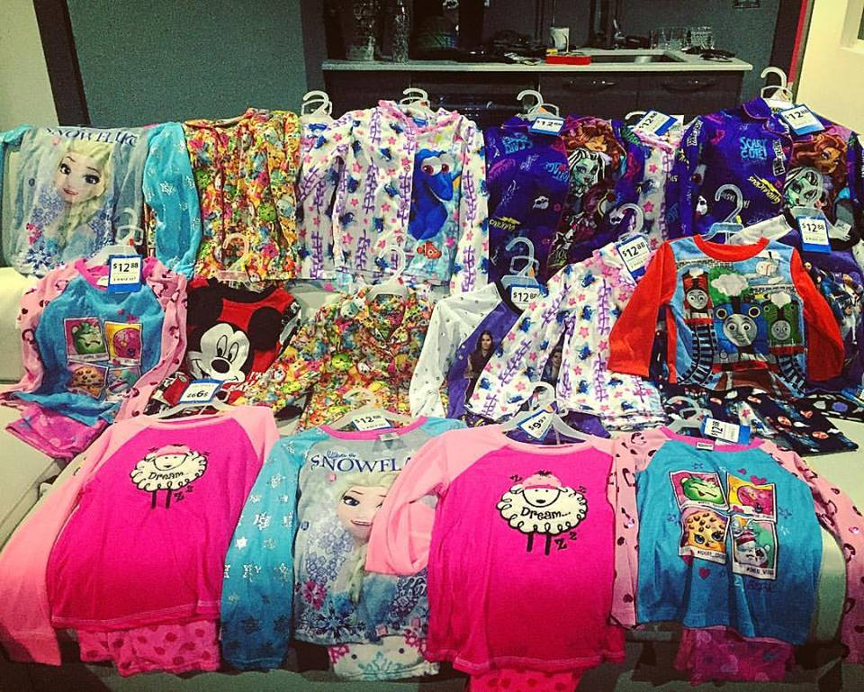 Warm Pajamas for children in Nashville to stay warm this winter.