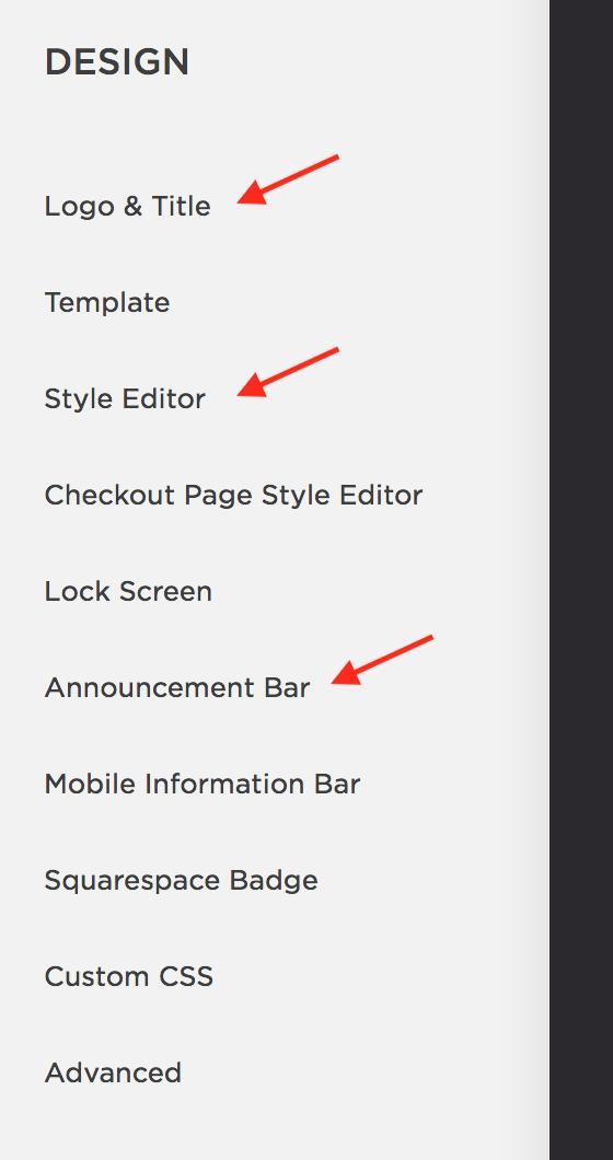 "Fig 2: le menu ""Design"""