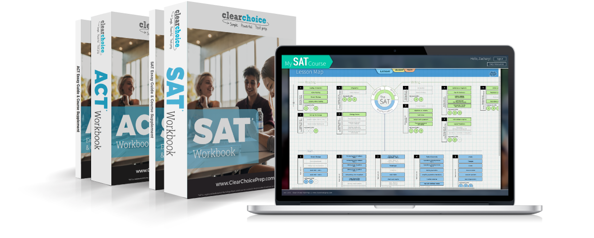 SAT and ACT workbooks and software