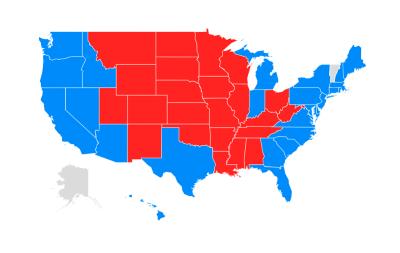 SAT vs ACT Map