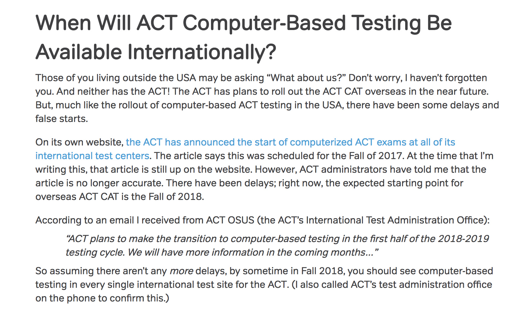 Bad ACT blogging part 2