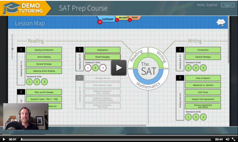 sat web application resource help video