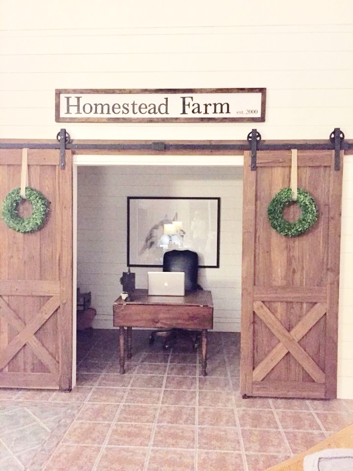 Homestead farm office after pic