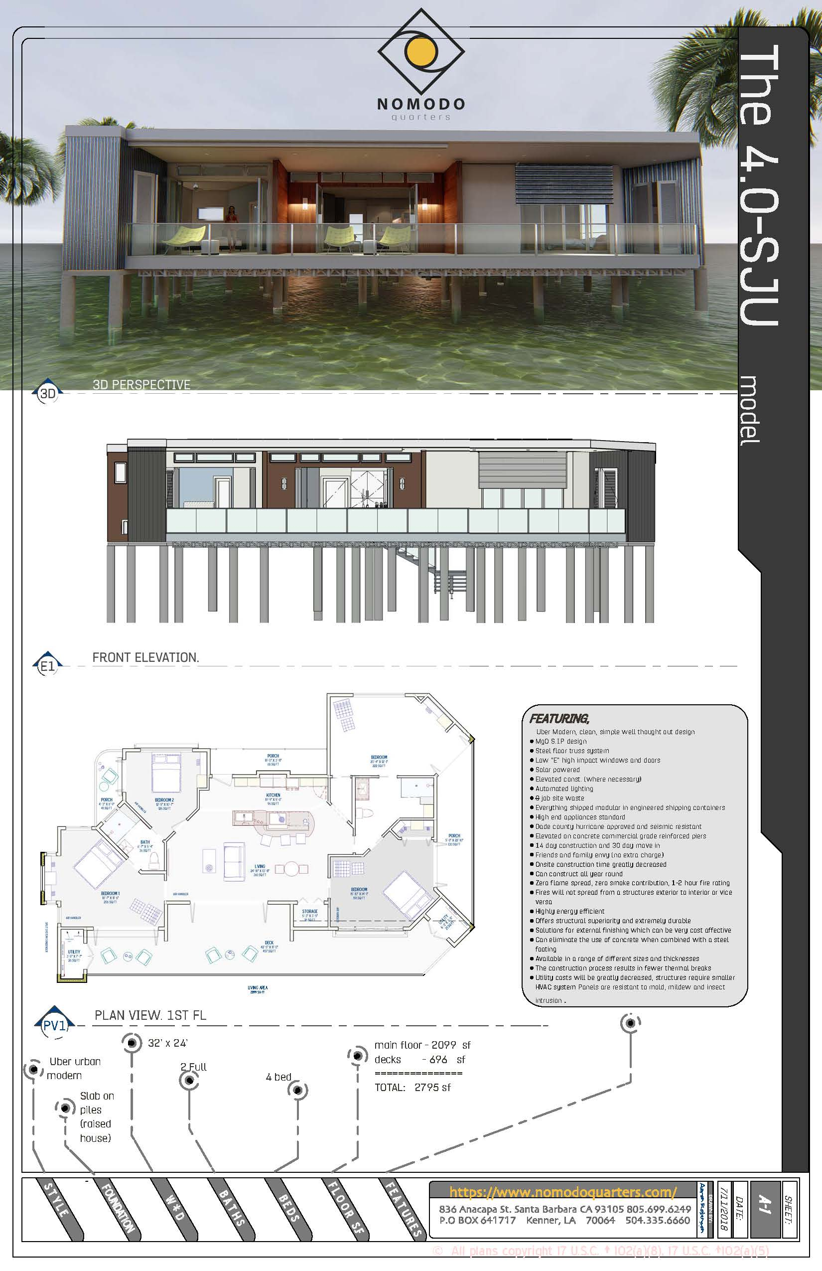 Uber Modern, 4 bedroom clean, simple well thought out designParty level model - sub $400k -
