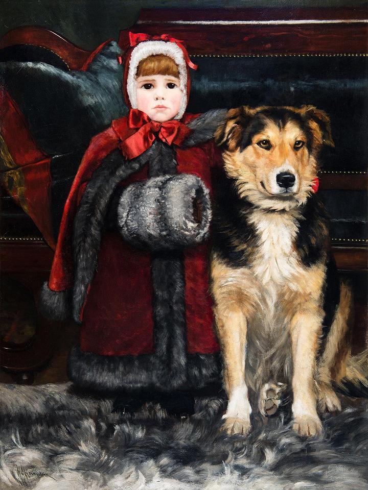 Helen Corson Hovenden - Martha and Dog.JPG