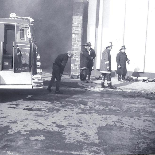 Plymouth Meeting Mall Fire - Part 4 - Harmonville Fire Truck with 5 Fire Fighters - Photo 1.JPG