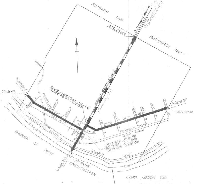 Conshohocken Borough Map - PennDOT - 1953 Map.JPG