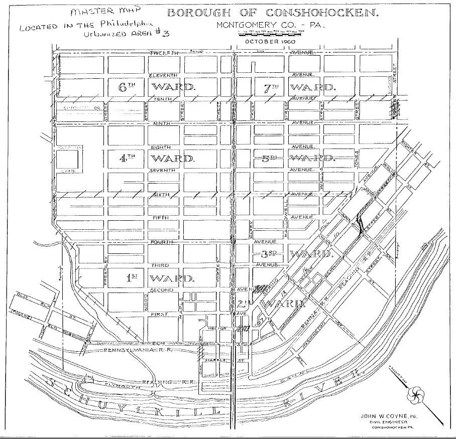 Conshohocken Borough Map - PennDOT - 1960 Map.JPG