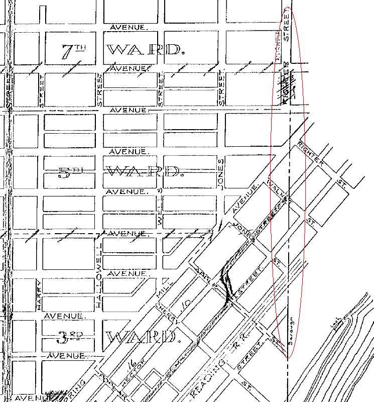 Conshohocken Borough Map - PennDOT - 1960 Map - Righter Street Area.JPG