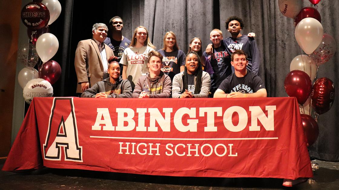 Glenside Local: Abington Senior High Student Athletes Commit To Colleges  At Signing Celebration