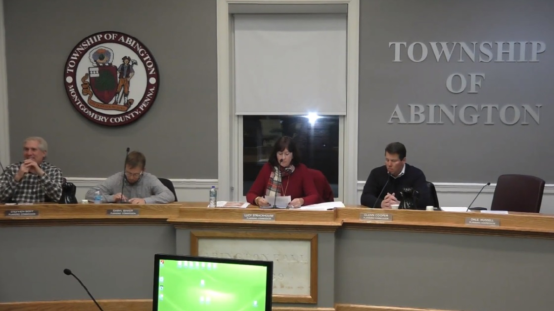Glenside Local: Video Of Abington Township Planning Commission Meeting December 11, 2018