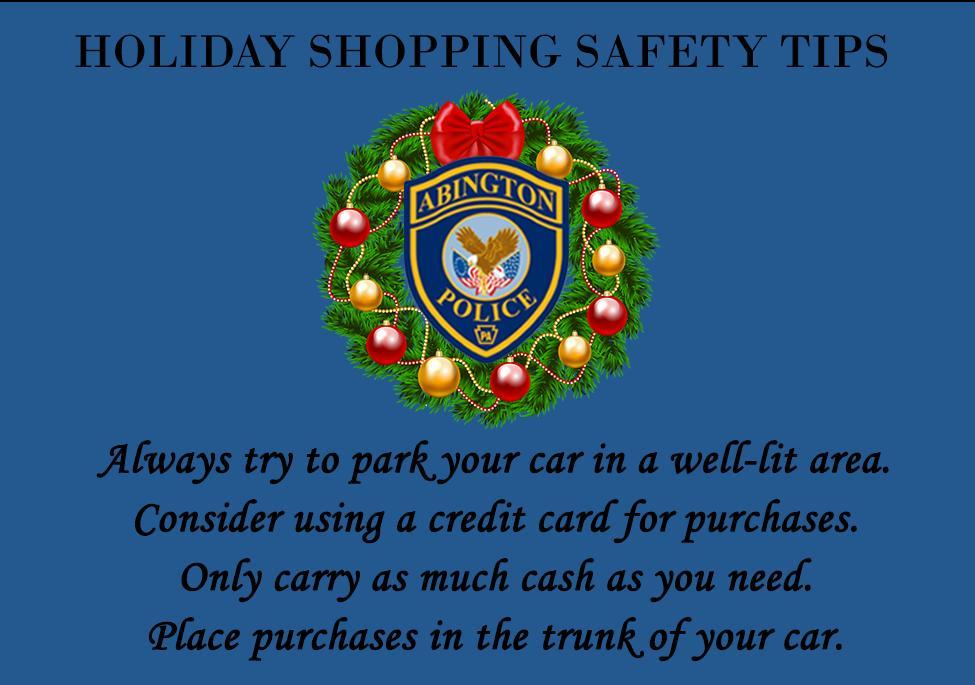 Abington Police - Holiday Safety Tips.JPG
