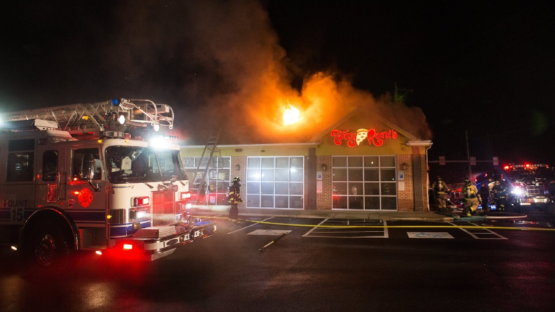 Glenside Local: Fire At Tony Roni's  In Willow Grove
