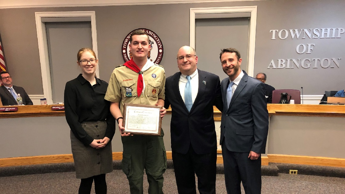 Glenside Local: Eagle Scout Recognized  By Abington Township