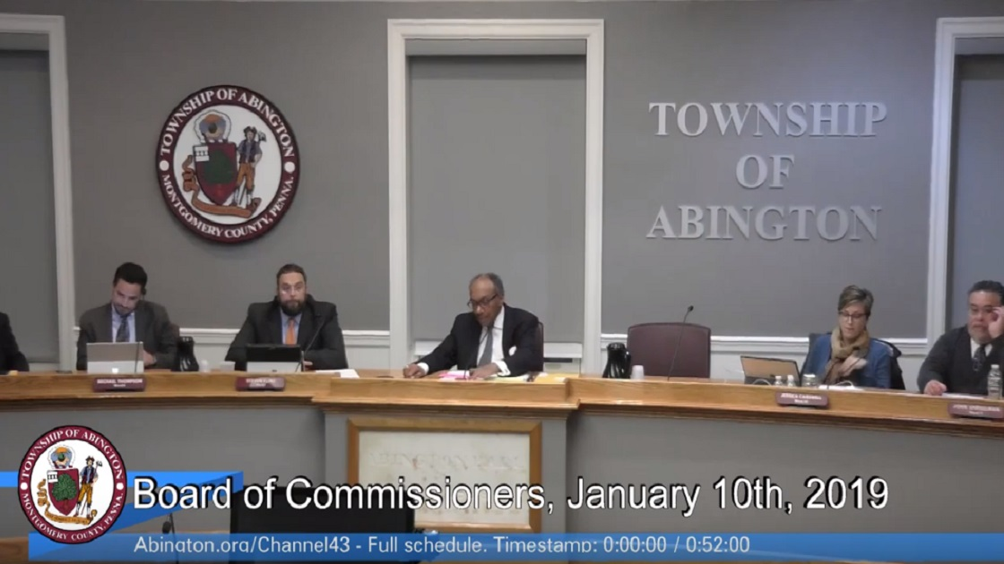 Glenside Local: Video Of Abington Township  Board Of Commissioners  Meeting - January 10th