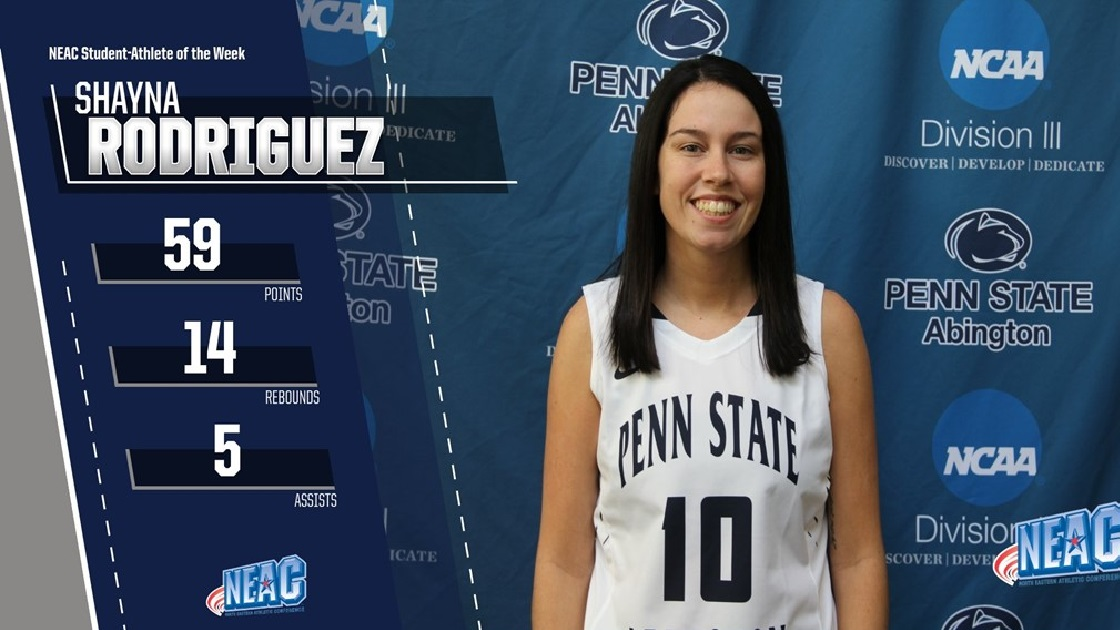 Glenside Local: Shayna Rodriguez Named  NEAC Women's Basketball  Student-Athlete of the Week