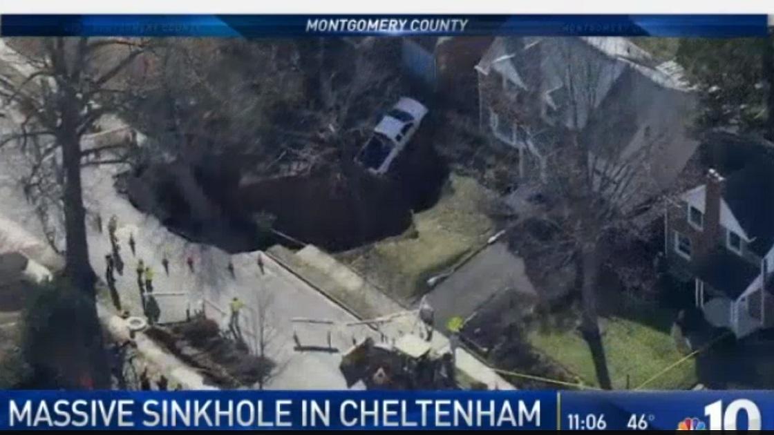 Glenside Local: Glenside Sinkhole - Flashback News Broadcast From NBC10