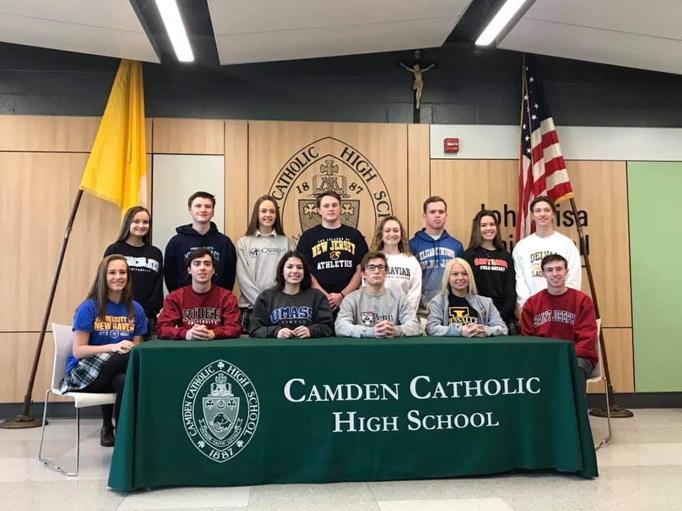 Cherry Hill Now: Camden Catholic High School  Student Athletes Sign For Colleges