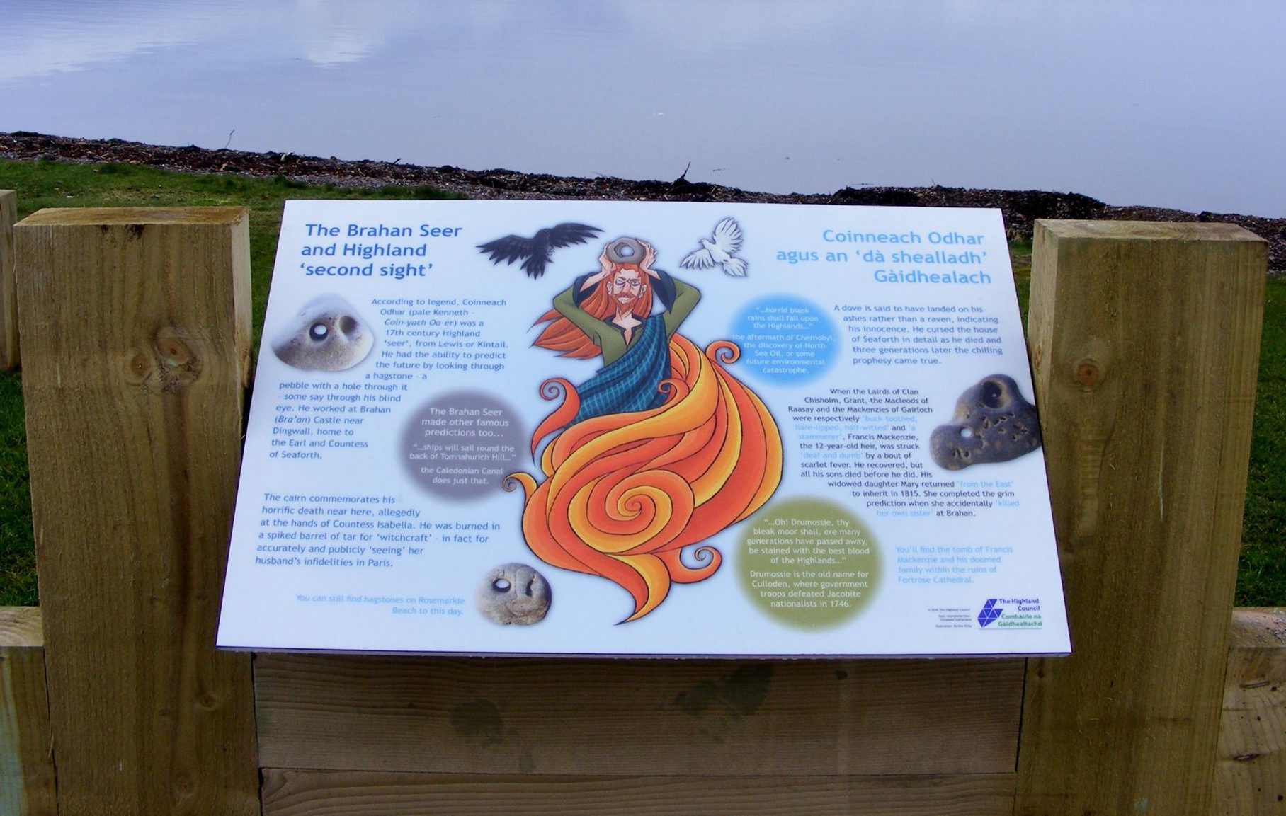 Character Design - Chanonry Point Tourist Board in the Scottish Highlands, Fortrose (2016)