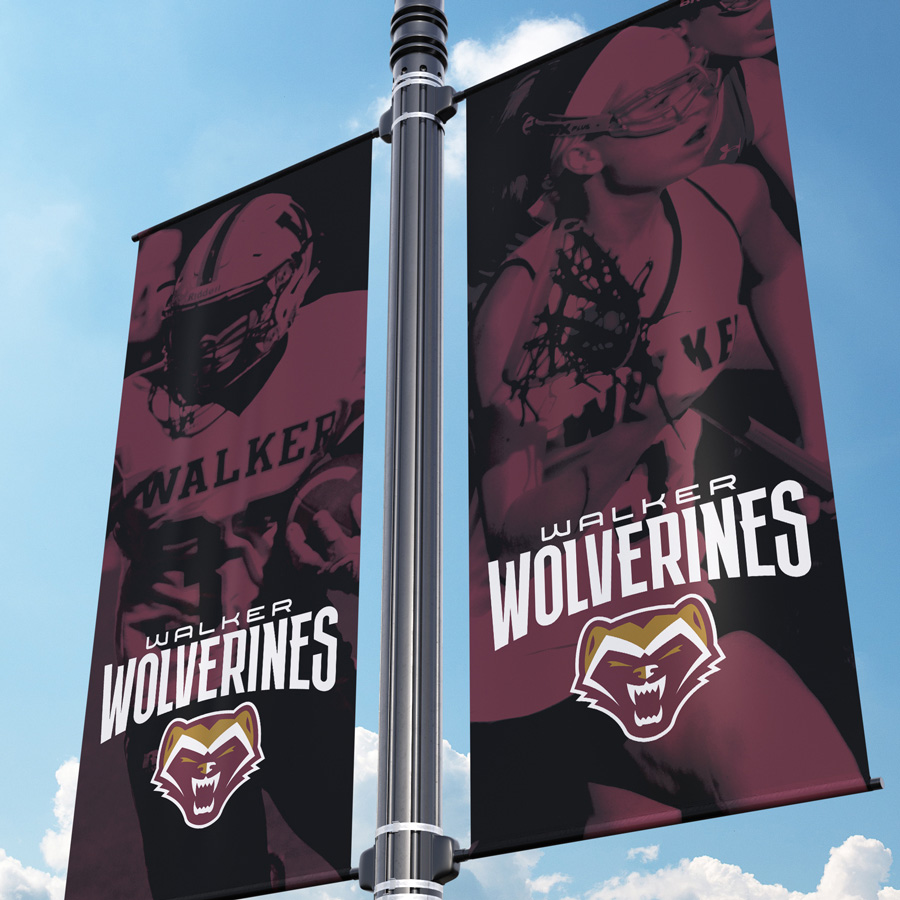 The Walker School Athletic Banners