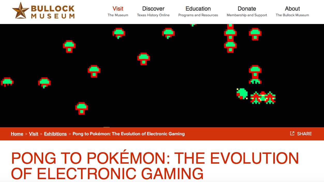 https://www.thestoryoftexas.com/visit/exhibits/evolution-of-electronic-gaming