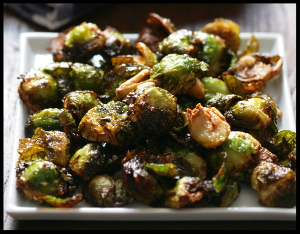 Roasted Brussel Sprouts with Garlic   by Mark Bittman for NY Times Cooking.