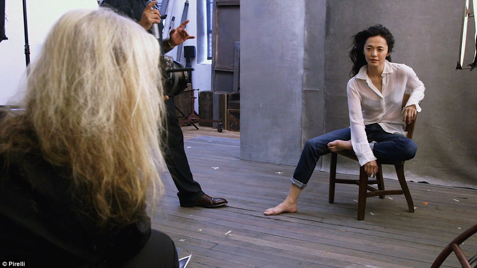 Yao Chen, Actress, the first Chinese UNHCR Goodwill Ambassador, behind the scenes of the Pirelli Calendar. Source: Pirelli