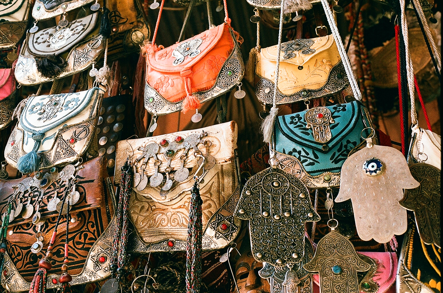 Handmade bags in the Suok of Marrakech