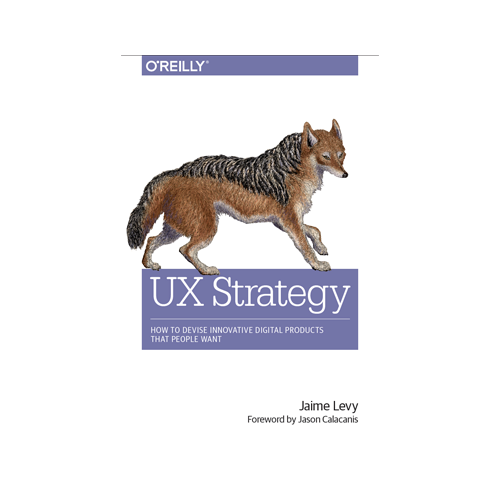 UX Strategy   Jaime Levy  You can't separate UX from business strategy, and this book shows you exactly why. Not only are you basing your experiences around the user, but the guideline is through the business's strategic intent. It shows you how to carefully realize your company's business climate and create actionable plans in our digitized world.
