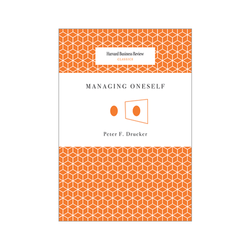 Managing Oneself   Peter Drucker  If you've never divulged in self-help books want to but don't know where to start, I highly recommend this tiny enlightenment. How do you want to define yourself? How will you let others see you? Who is it that you want to see when you look in the mirror?
