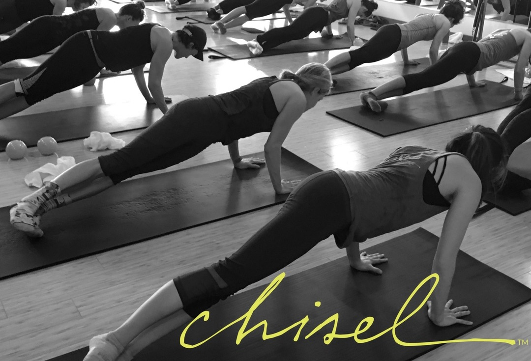 Chisel is a ONE-of-a-kind awesome workout. Live classes are filmed at Claisque in Asheville, NC. And from your home, you will feel the energy of the studio pulsing and be inspired to work, sweat, play, move and try new things. All you need is a slippery floor like hardwood and some socks or towels. You will LOVE this class, it is for all levels, ages and abilities.