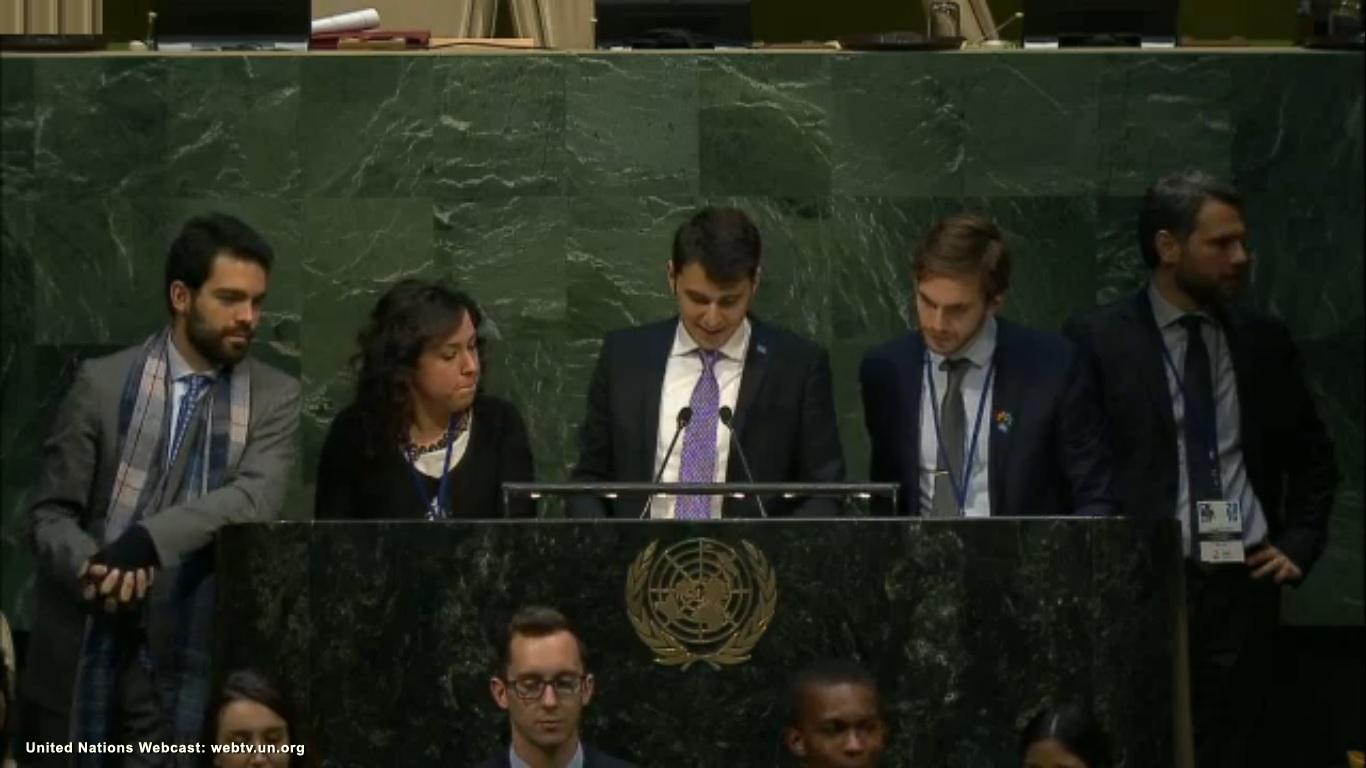 Camilo at Change the World MUN 2016 at the UN HQ