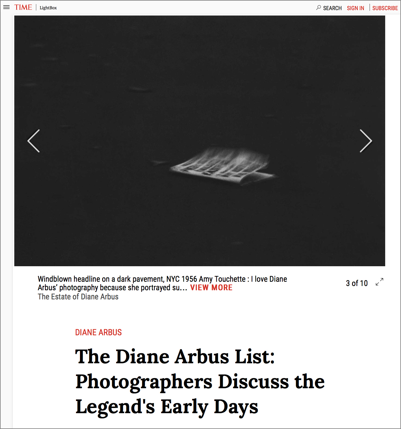 TIME LightBox,The Diane Arbus List - NOVEMBER 18, 2016 As Diane Arbus' landmark exhibition at the Met Breuer,