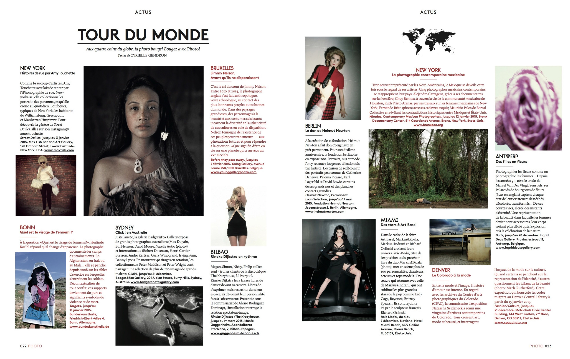PHOTO Magazine,Street Dailies - DECEMBER 2014 PHOTO magazine highlights Street Dailies in its Tour du Monde section. PHOTO is a French magazine that focuses on artistic aspects of photography.
