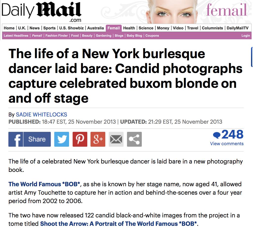 The Daily Mail,Shoot the Arrow - NOVEMBER 25, 2013