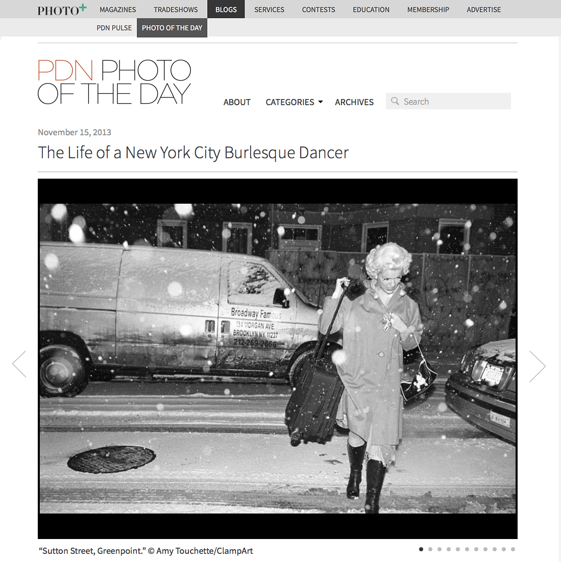 PDN Photo of the Day,Shoot the Arrow - NOVEMBER 15, 2013 PDN Photo of the Day displays photographs selected by the editors of Photo District News, a publication for photo professionals.