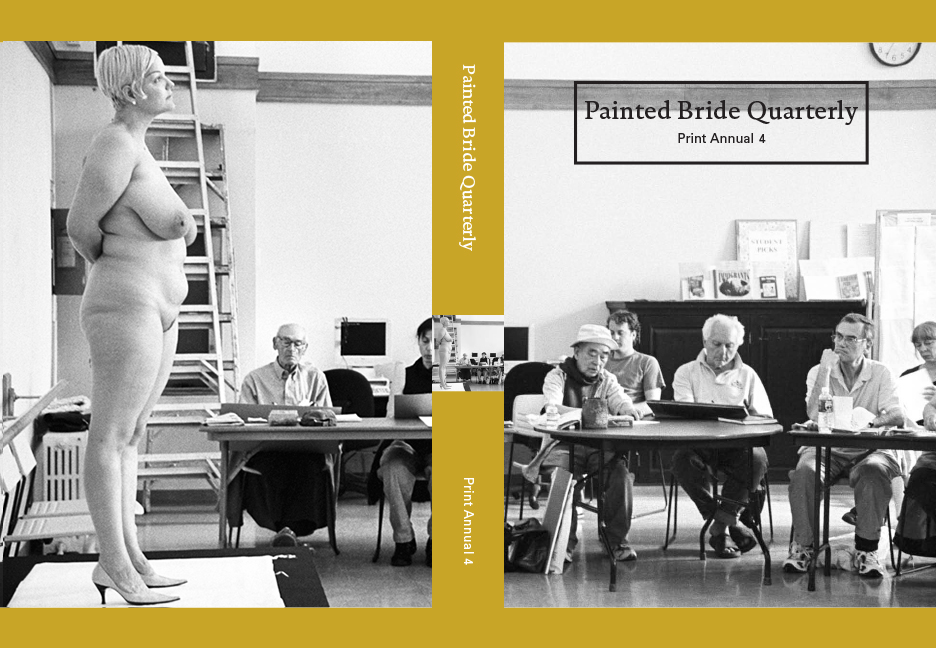 "Painted Bride Quarterly,Shoot the Arrow - SPRING 2017 ""Tompkins Square Library Drawing Class"" from Shoot the Arrow is on the cover of the fourth print annual of Painted Bride Quarterly, a literary magazine supported by Drexel University."