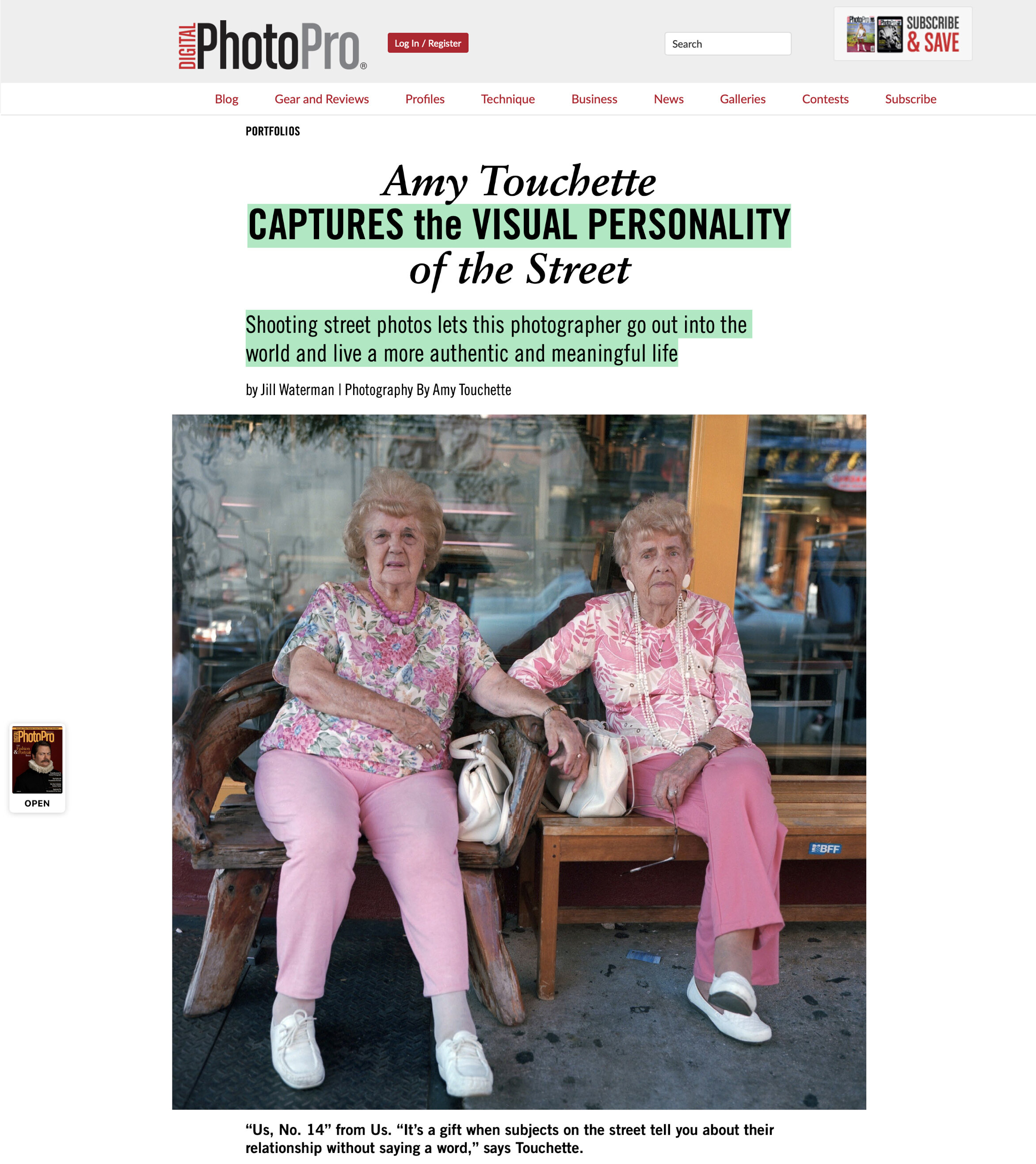 Digital Photo Pro Magazine,Feature - OCTOBER 2019 Amy discusses her inspiration for photographing on the street in this feature article.