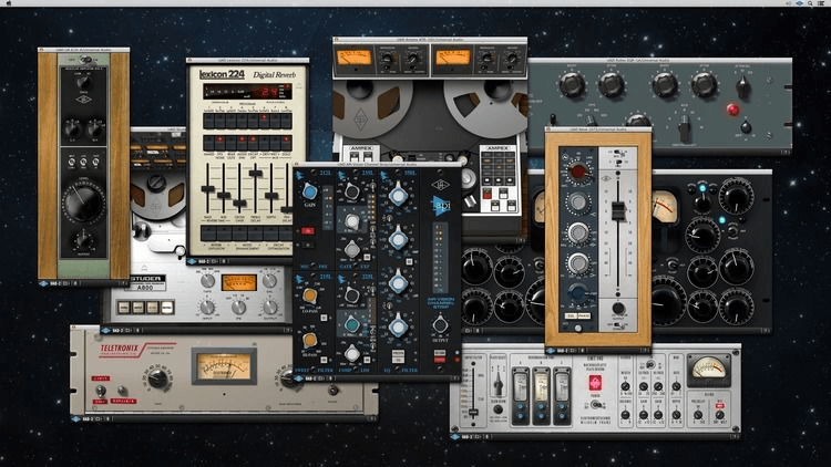 UAD Card and plugins   Totally pro analog emulations of classic gear. The UAD host card allows processing outside of the MAC 8 core system. They sound amazing and combined with the carefully selected analog and digital gear, Waves, McDSP and Slate plugins, there's not much missing !