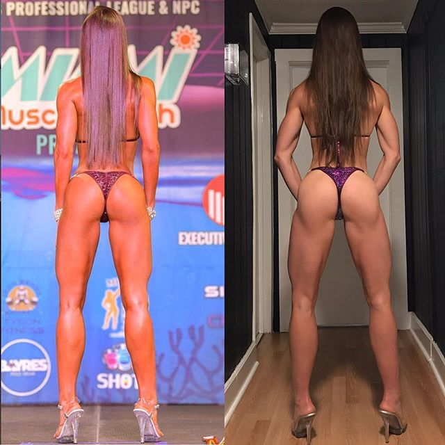 Still can't believe the changes that I was able to make from my 1st (June) show to my 4th show (tomorrow). My feedback has been to get my glutes and hammies tighter. Slowly but surely I have been able to accomplish that. Let's see the final form that @pjbraunfitness andI will take tomorrow.  I'm so freaking pumped to step on stage tomorrow at the @wingsofstrength #tampapro ... who's also pumped?