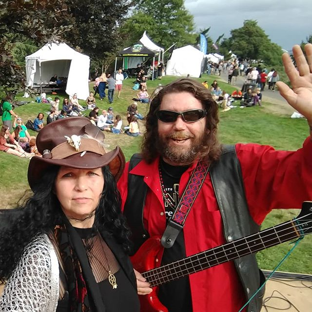 Roxy and Dave... Getting ready to rock the Seely-Black stage at Hempfest