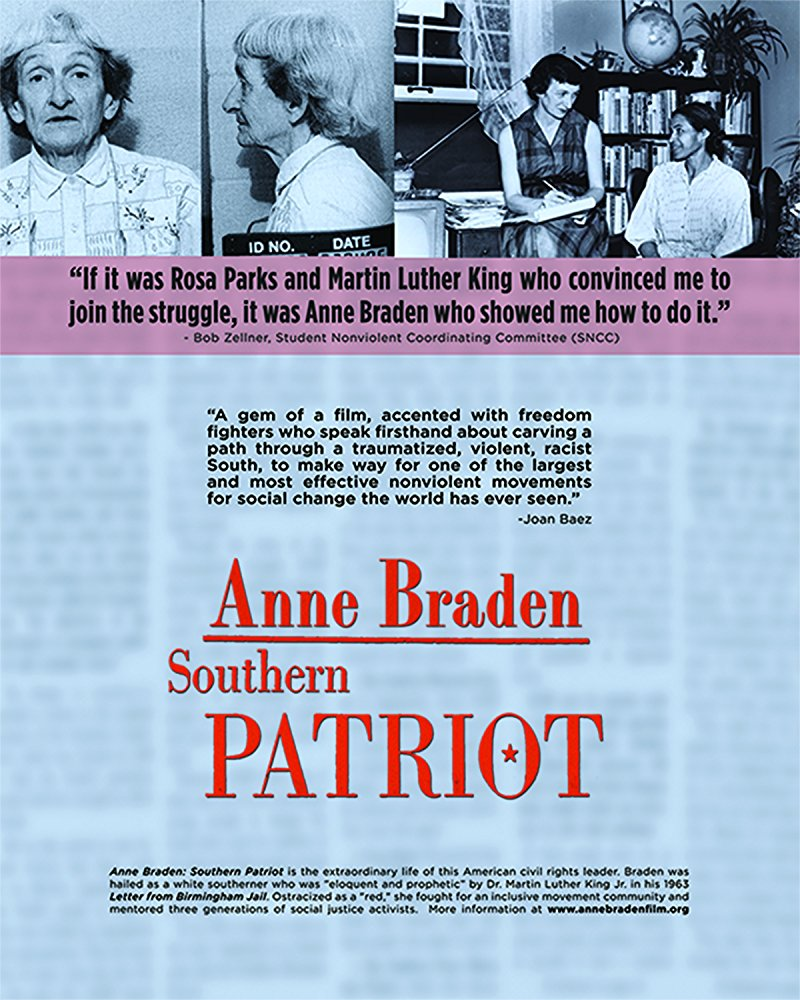 Anne Braden: Southern Patriot  Dir. Anne Lewis (documentary feature)  Editing and re-recording.