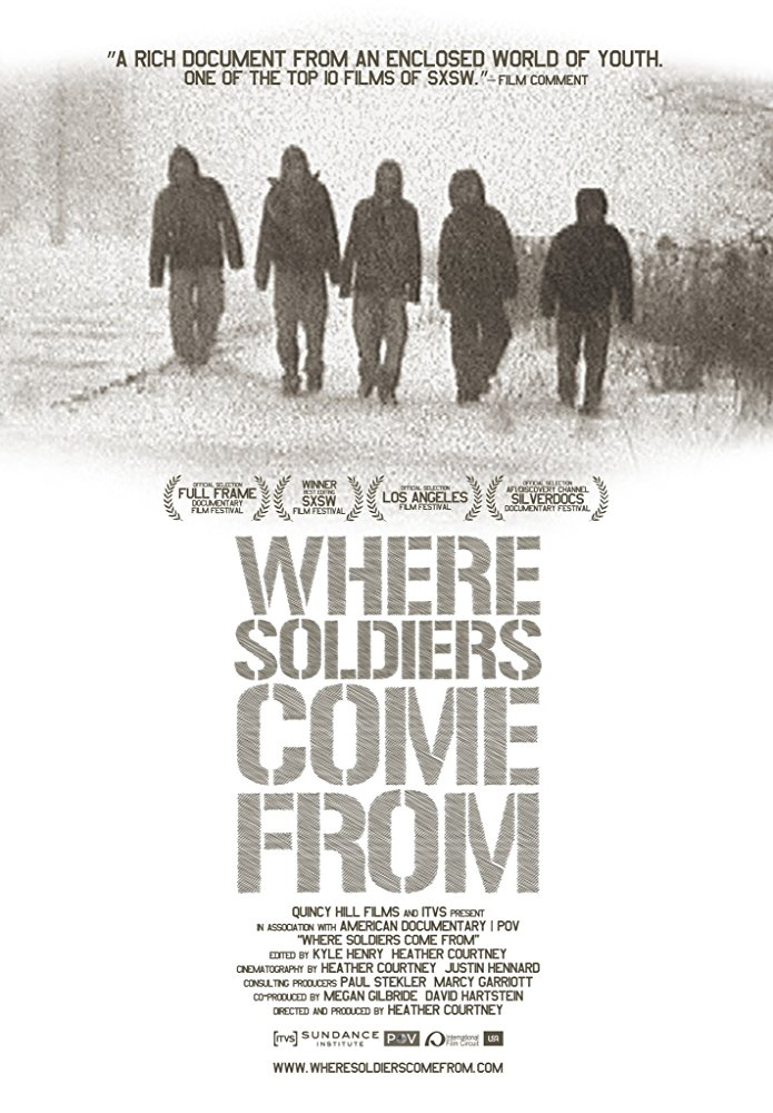Where Soldiers Come From  Dir. Heather Courtney (documentary feature)  Editing and re-recording.