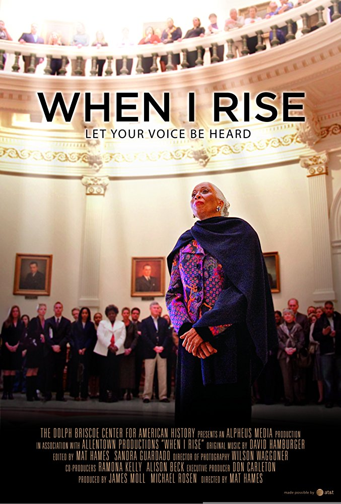 When I Rise  Dir. Mat Hames (documentary feature)  Editing and re-recording.