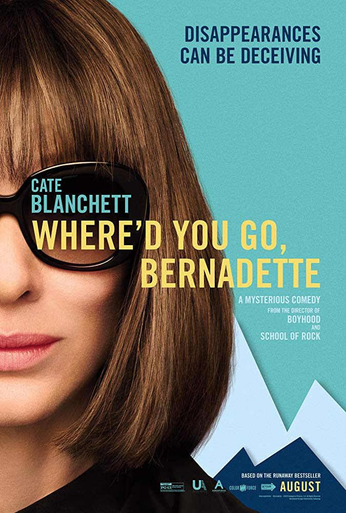 Where'd You Go Bernadette?  Dir. Richard Linklater (narrative feature)  Design, edit, foley record, ADR recording, and re-recording.