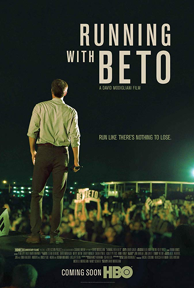Running With Beto  Dir. David Modigliani (documentary feature)  Design, edit, ADR recording, and re-recording.