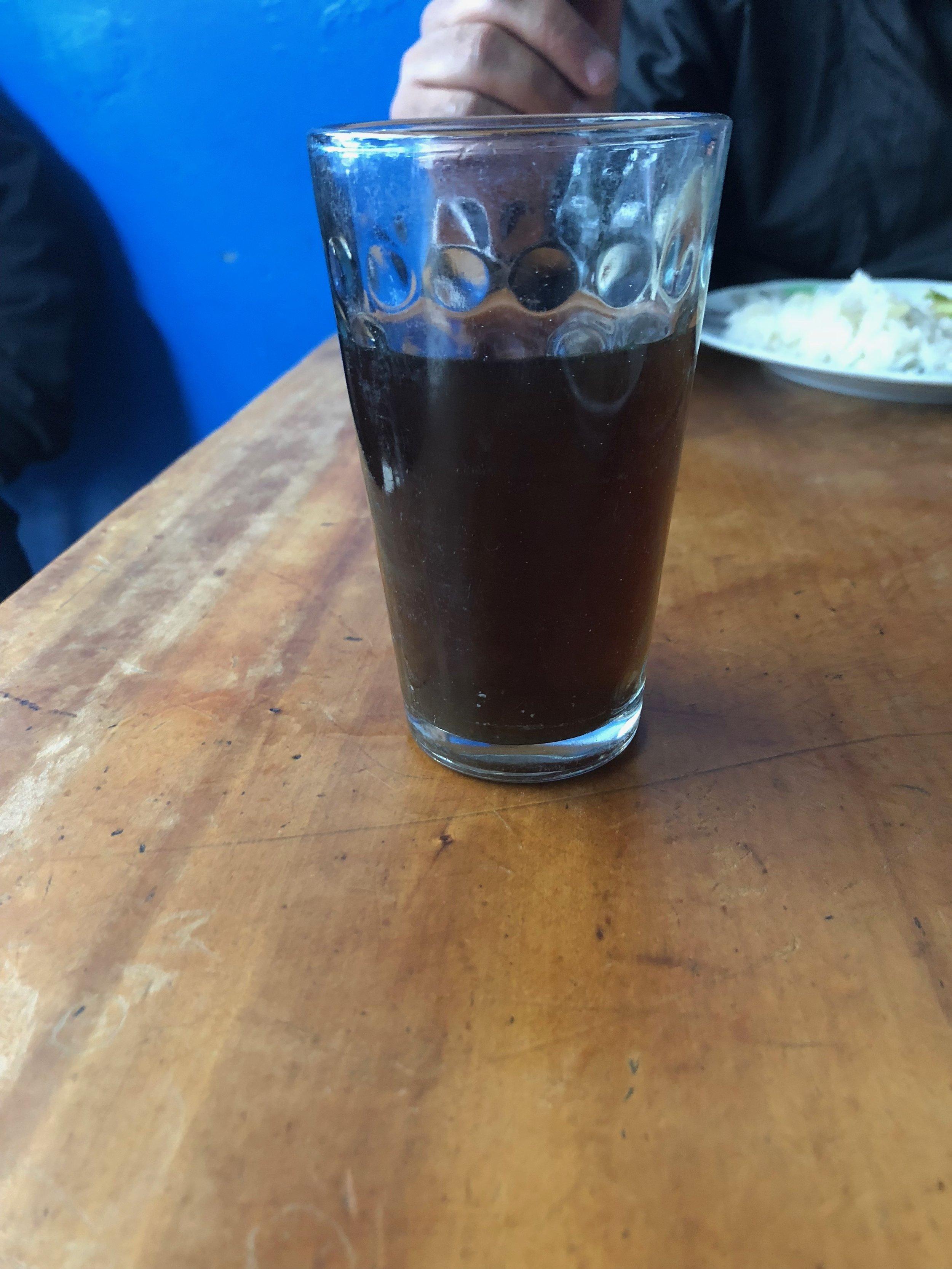 Chicha  - traditional purple corn drink