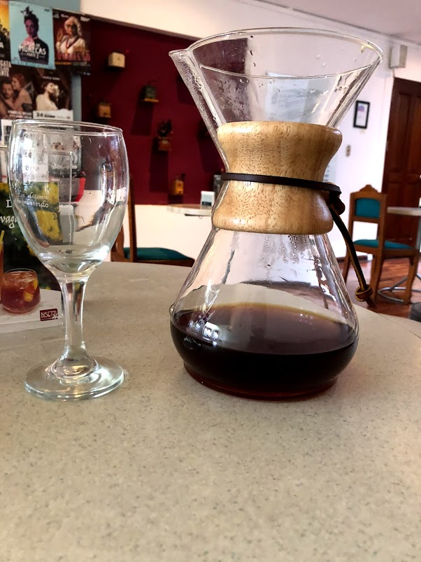 V60 at Bisestti is served with a wine glass